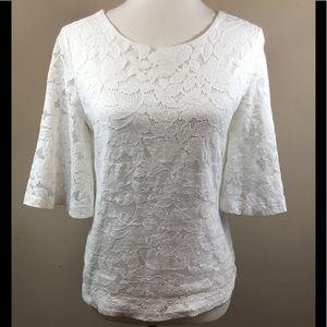 Banana Republic Women's White Lace Blouse Sz XS